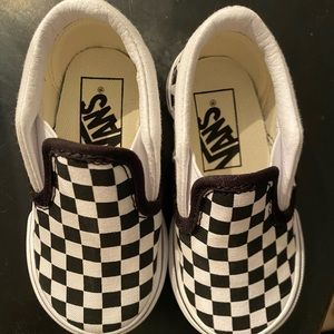 Checked vans for toddler